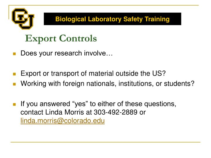 Biological Laboratory Safety Training