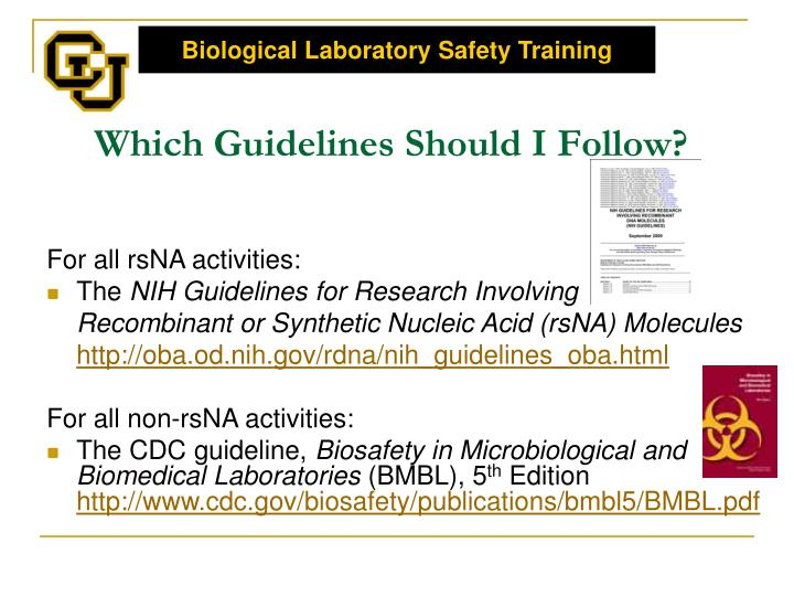 Which Guidelines Should I Follow?