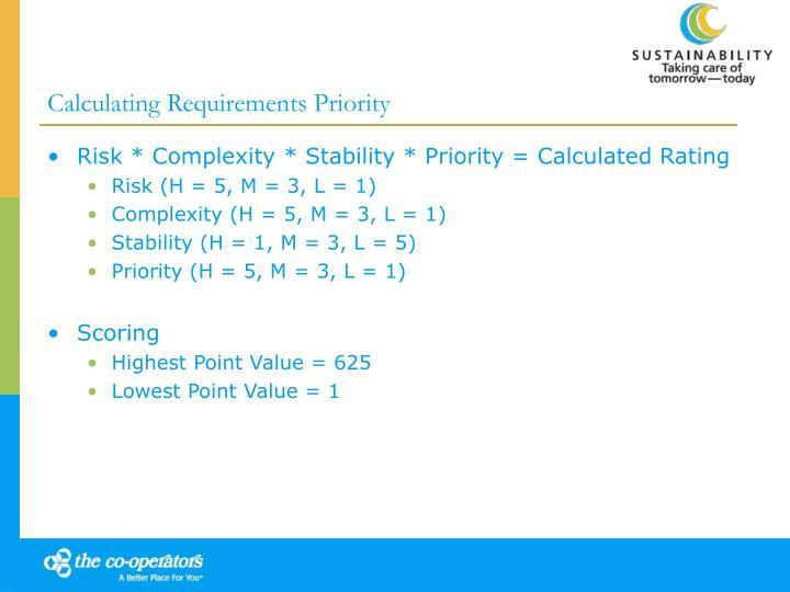 Calculating Requirements Priority