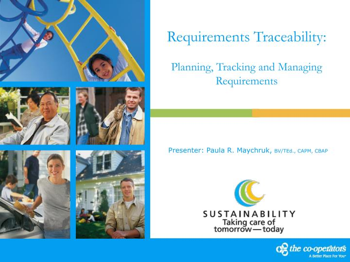Requirements traceability planning tracking and managing requirements