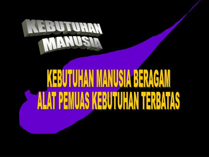 KEBUTUHAN MANUSIA BERAGAM