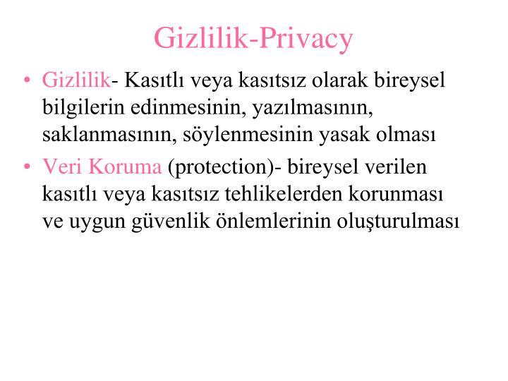 Gizlilik-Privacy