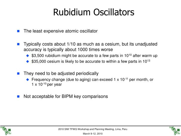 Rubidium Oscillators