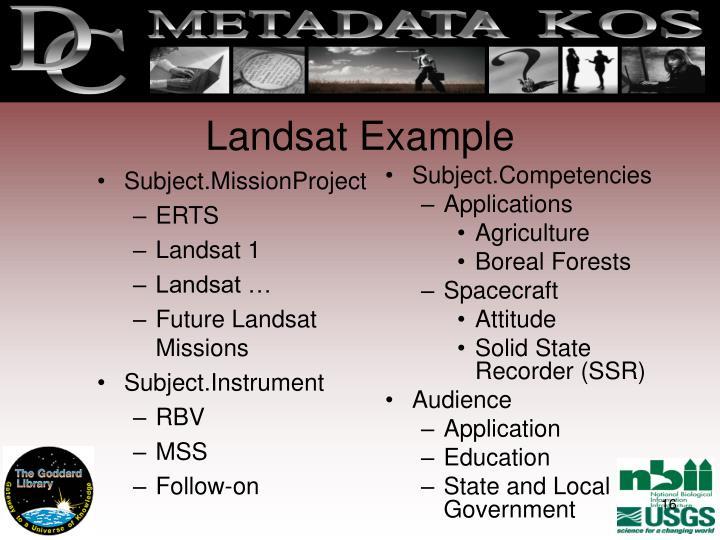 Landsat Example