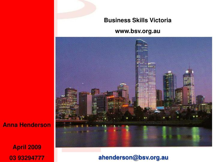 Business Skills Victoria