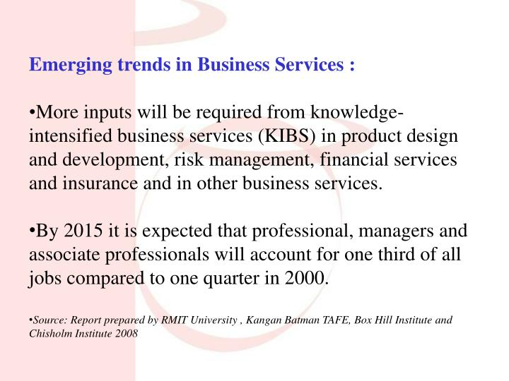 Emerging trends in Business Services :