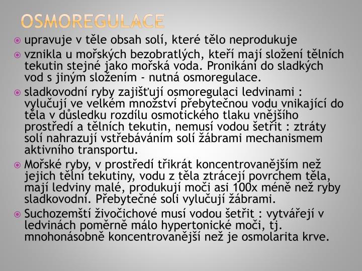 Osmoregulace