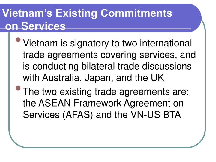Vietnam's Existing Commitments