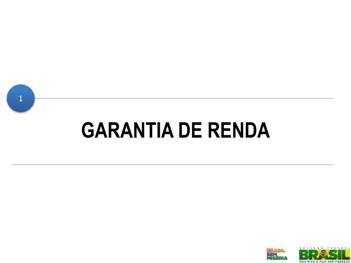 GARANTIA DE RENDA