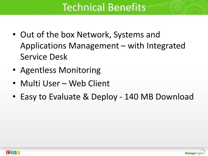 Technical Benefits