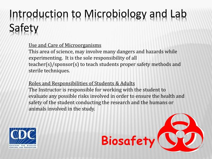 Introduction to microbiology and lab safety