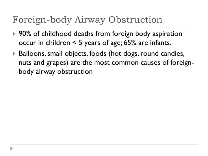 Foreign-body Airway Obstruction