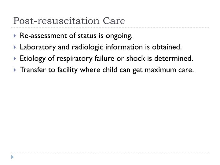 Post-resuscitation Care