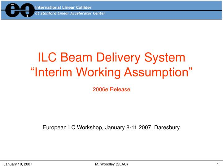 ILC Beam Delivery System