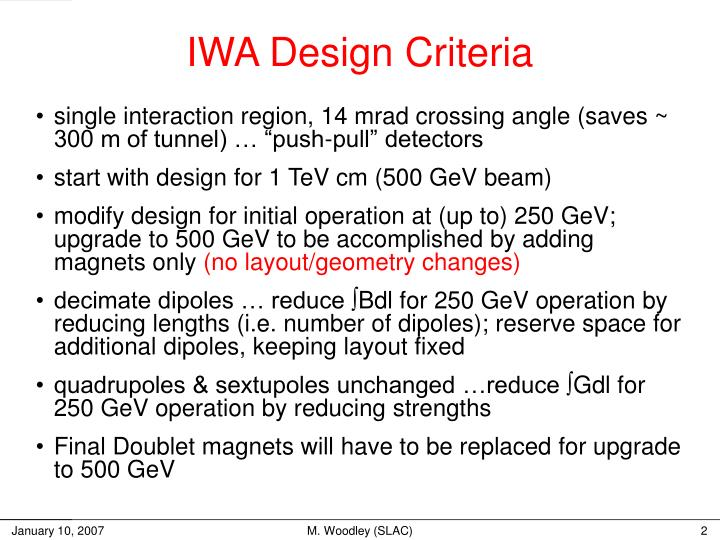 IWA Design Criteria