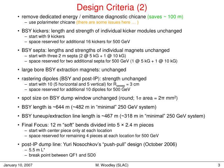Design Criteria (2)