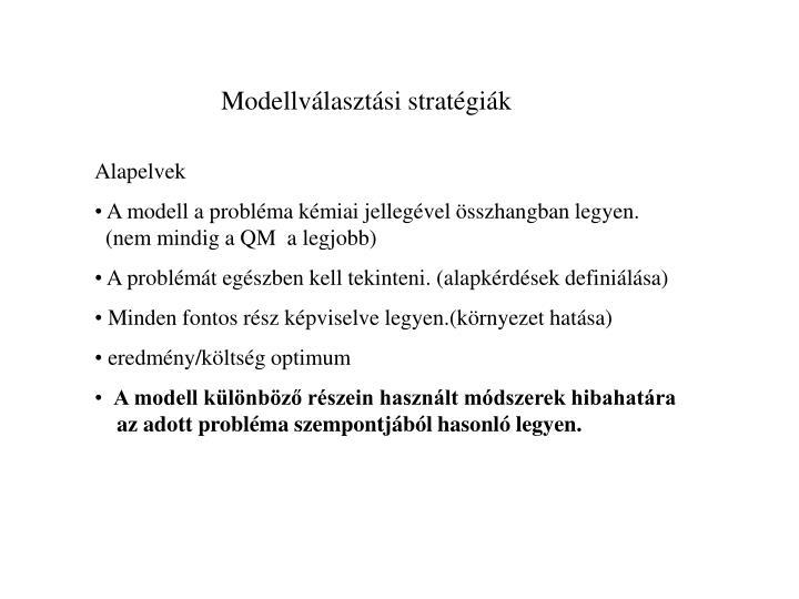 Modellválasztási stratégiák