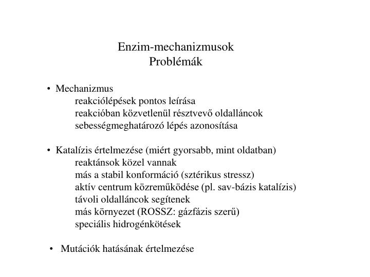 Enzim-mechanizmusok