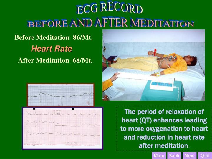 Before Meditation  86/Mt.