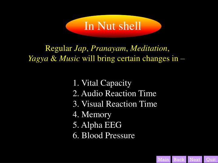 In Nut shell