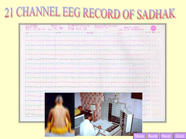 21 CHANNEL EEG RECORD OF SADHAK