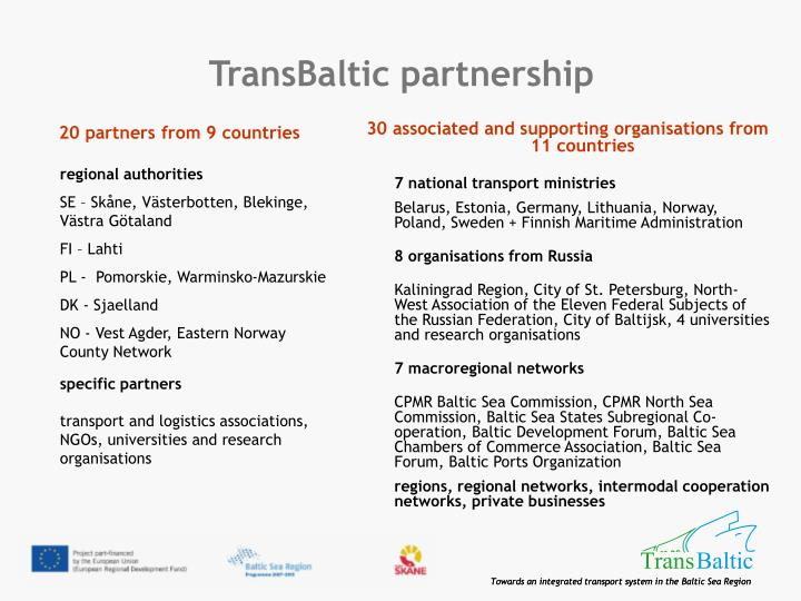 Transbaltic partnership