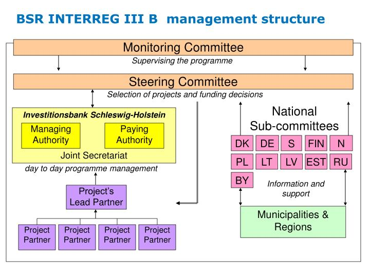 BSR INTERREG III B  management structure