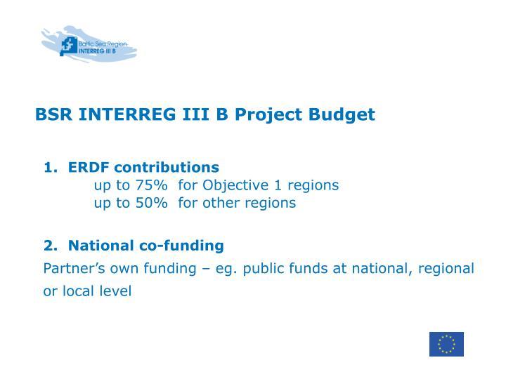 BSR INTERREG III B