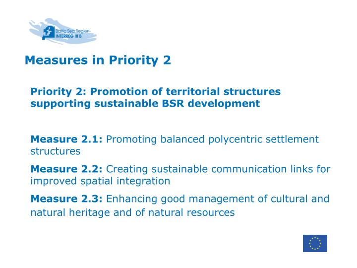Measures in Priority 2
