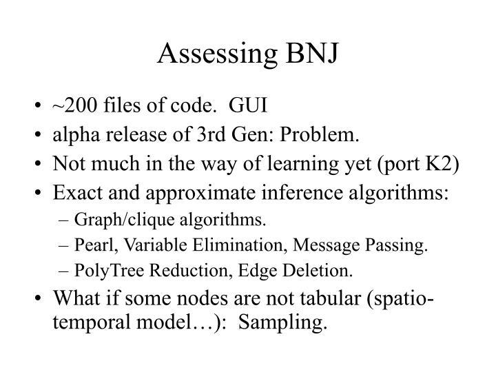 Assessing BNJ