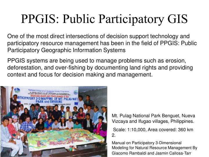PPGIS: Public Participatory GIS