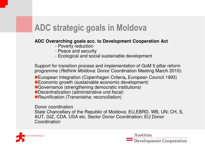 ADC strategic goals in Moldova