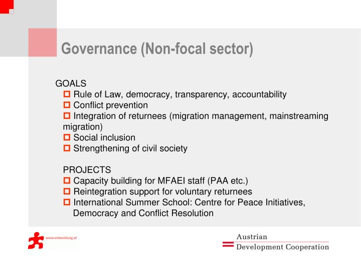 Governance (Non-focal sector)