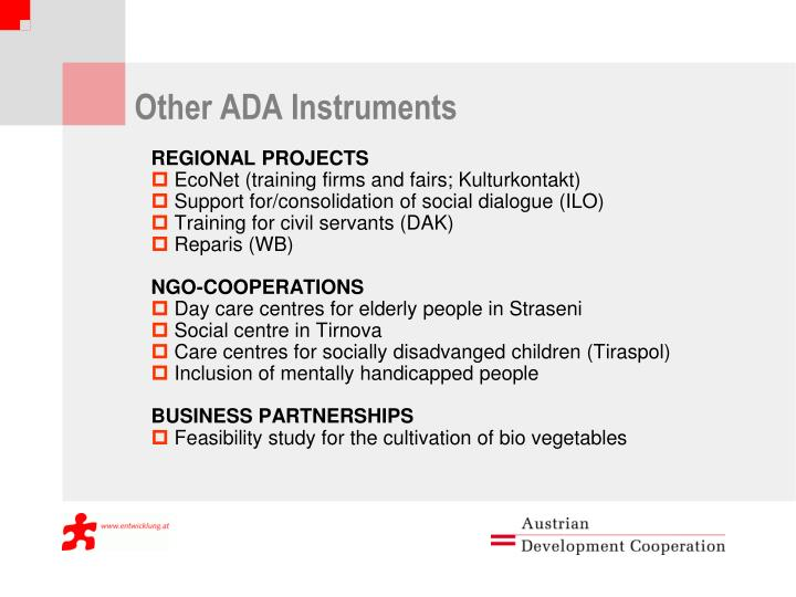 Other ADA Instruments