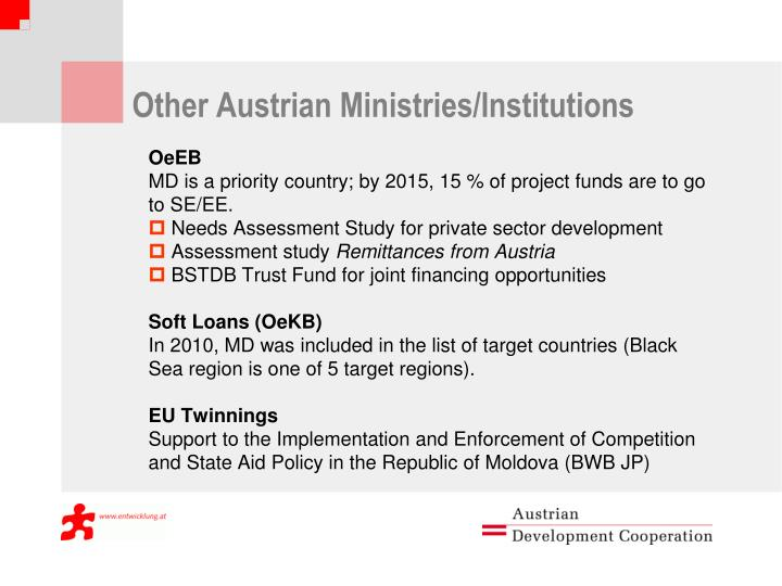 Other Austrian Ministries/Institutions