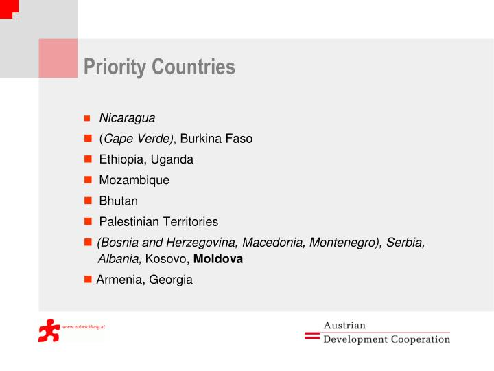 Priority Countries