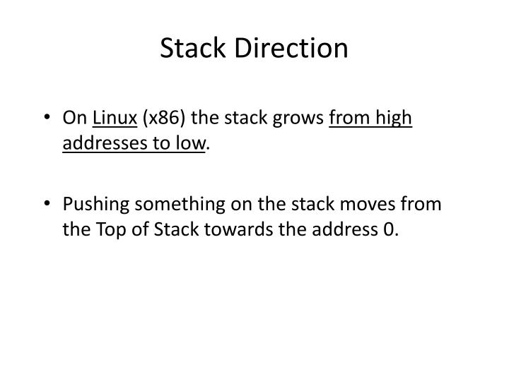 Stack Direction