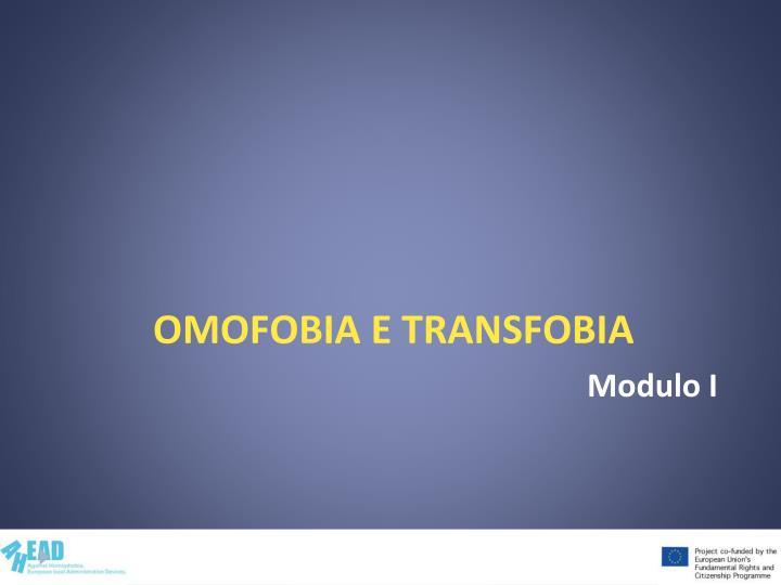 Omofobia e transfobia