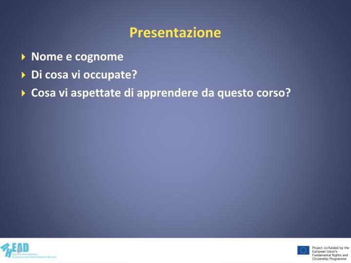 Presentazione