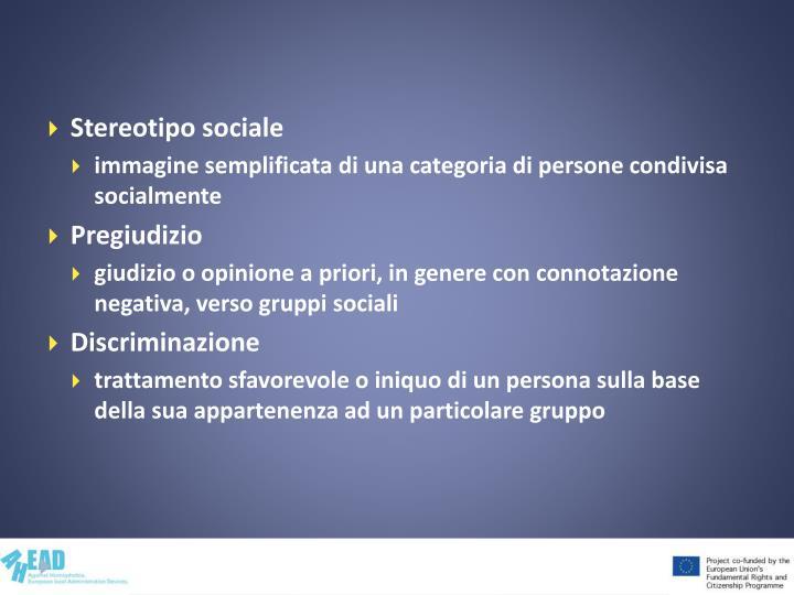 Stereotipo sociale
