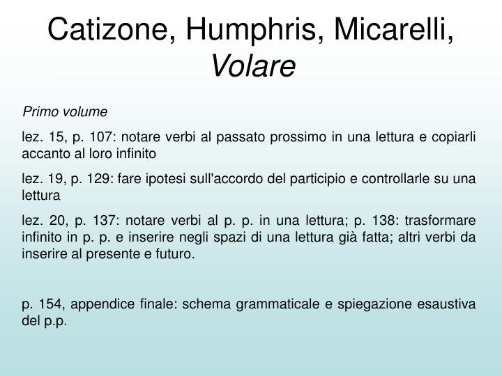 Catizone, Humphris, Micarelli,