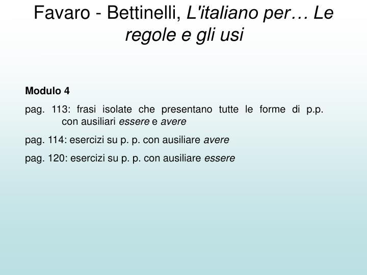 Favaro - Bettinelli,