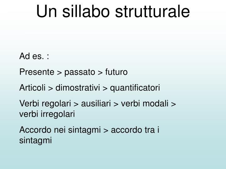Un sillabo strutturale