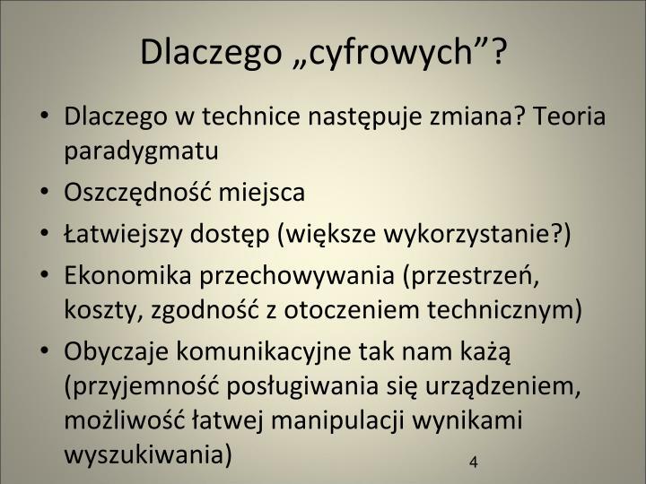 """Dlaczego """"cyfrowych""""?"""