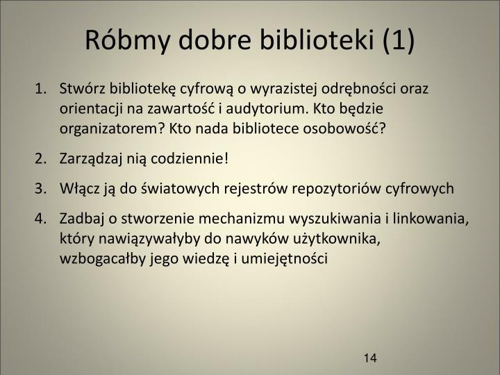 Róbmy dobre biblioteki (1)