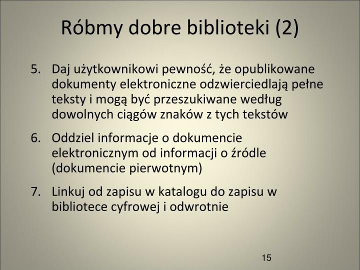 Róbmy dobre biblioteki (2)