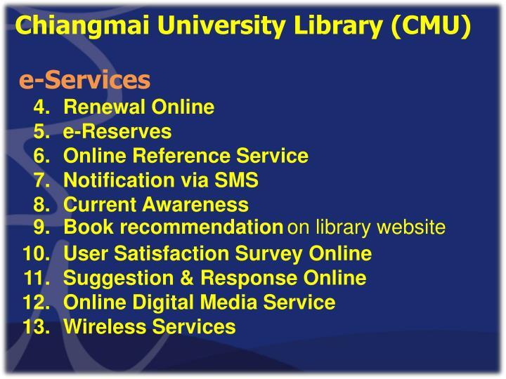 Chiangmai University Library (CMU)