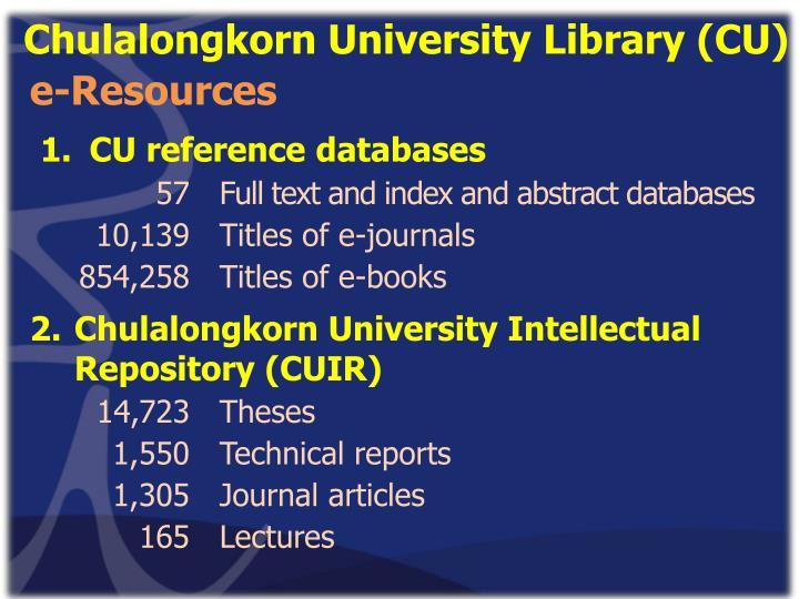 Chulalongkorn University Library (CU)