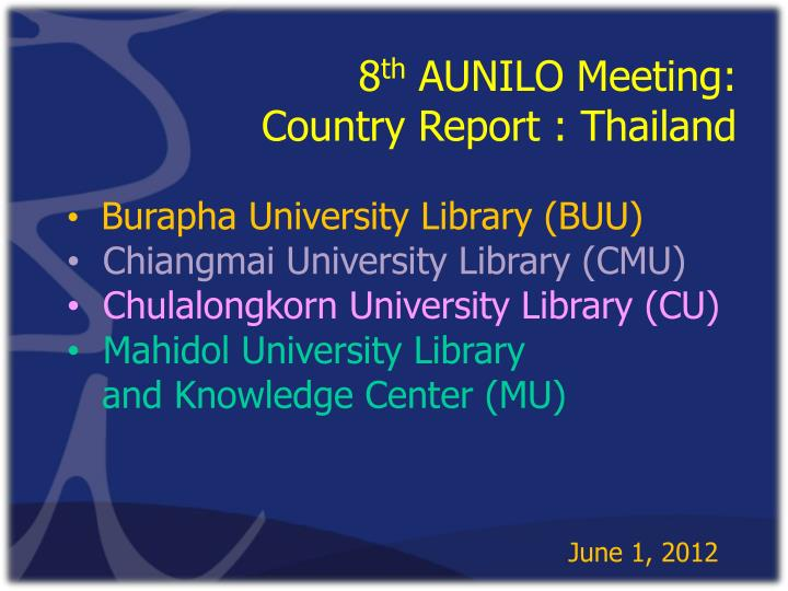 8 th aunilo meeting enhancing information discovery through mobile technologies