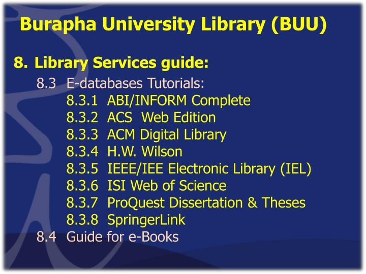 Burapha University Library (BUU)